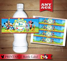 Personalized Clubhouse MICKEY MOUSE Water by ThePrintableOccasion