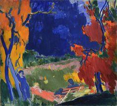 Janos Vaszary (Hungary Ősz - Autumn oil on canvas Art Gallery, Colorful Art, Painting Still Life, Art For Art Sake, Painter, Painting Inspiration, Painting, Art, Beautiful Art