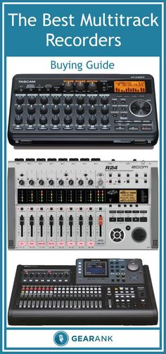 Detailed Guide to The Best Multitrack Recorders. Explains things you need to know such as Simultaneous Recording Tracks, Total Number of Tracks for Mixing, Virtual Tracks, Effects, Export Functions and Additional Features including using your recorder as an Audio Interface.  It also includes a list of the most highly rated multitrack recorders with 8, 16, 24 and 32 tracks.