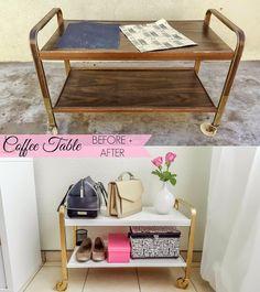 Coffee Table / Bar Cart Transformation Furniture, Home Projects, Table, Bar Cart, Home Decor, Table Decorations, Decorating Coffee Tables, Coffee Table