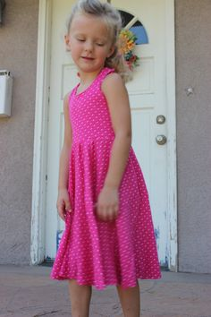 The Cyan Lily Dress & Tunic, a PDF sewing pattern by Mandy K Designs Size 12m to 14, plus coloring page.