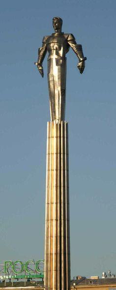 Monument to Yuri Gagarin in Moscow, Russia. #Russian #cosmonaut #Yuri_Gagarin