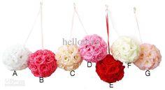 Wholesale s - Wedding Decorations Supplies Silk Kissing Pomander Rose Flowers Balls Wedding bouquet, Free shipping, $5.14-6.72/Piece   DHgate