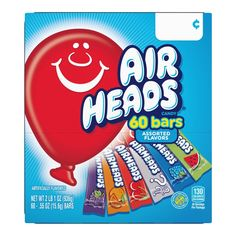 Airheads Candy Bars Variety Stocking Stuffers Bulk Box Chewy Full Size Fruit Taffy Gifts Back to School for Kids Non Melting Party 60 Count (Packaging May Vary) 60 Variety Airheads Taffy Candy, Laffy Taffy, Bulk Candy, Free Candy, Halloween Cookies, Halloween Candy, Halloween Kids, Halloween Parties, Candy Recipes