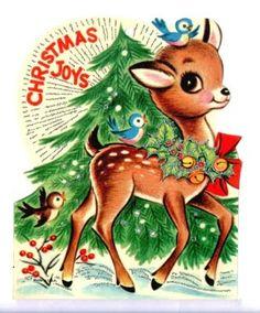 Vintage deer card from Creative Breathing