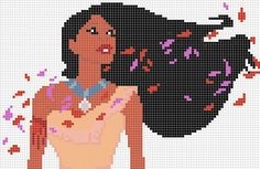 Pocahontas x-stitch pattern by Santian69.deviantart.com on @deviantART