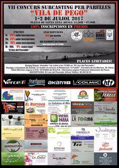 Colaboramos con el Club De Pesca Esportiva Pego como sponsors del VII Concurs de Surfcasting Vila de Pego.