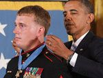 "WASHINGTON (AP) — President Barack Obama on Thursday bestowed the highest U.S. military honor on Dakota Meyer, a young and humble Marine who defied orders and barreled straight into a ferocious ""killing zone"" in Afghanistan to save 36 lives at extraordinary risk to himself."