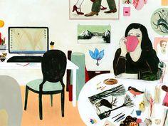 My workspace by *Daniela Tieni, via Flickr