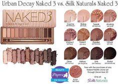 Urban Decay Naked 3 vs. Silk Naturals Naked Clone Dupes