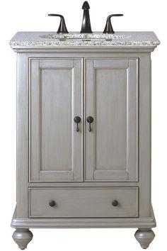 Aberdeen 36 Single Vanity Dove Gray Very Nice Pale Gray