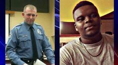 Ferguson, MO Police Office Darren Wilson (left) and shooting victim Michael Brown