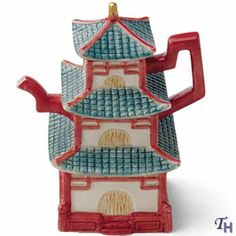 Fitz and Floyd Around The World Chinese Tower Teapot