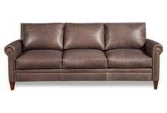 "Walter 87"" Leather Sofa $1699 plus shipping and taxes"