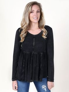 Altar'd State Arctic Weather Top - Long Sleeve - Tops - Apparel