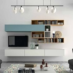 Minimalist 'Light Blue' TV Unit. Beautiful, elegant and delicate design, luxury materials. My Italian Living