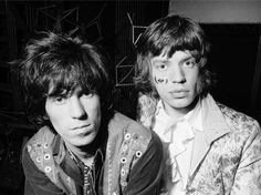 Keith Richards and Mick Jagger, by Michael Cooper. The Rolling Stones. #CrosseyedHeart #KeithRichards #TheRollingStones #RonnieWood #CharlieWatts #MickJagger #BrianJones
