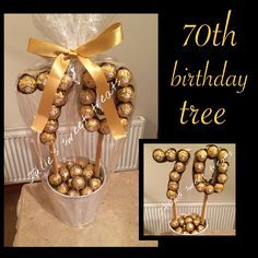 birthday tree … – Birthday Presents Birthday Tree, 75th Birthday Parties, 70th Birthday Gifts, Dad Birthday, Birthday Balloons, Birthday Presents, Birthday Ideas, Candy Trees, Chocolate Bouquet