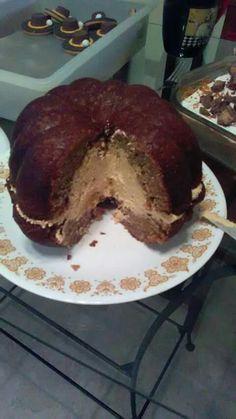 Autumn Spice Cake with Pumpkin Cheesecake Moose.