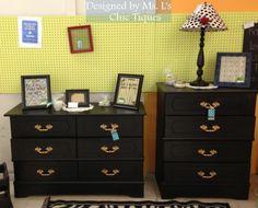 Black Gold Dresser Set Sold