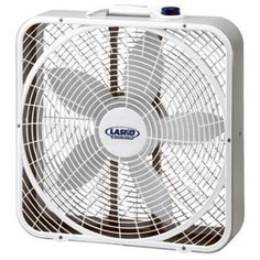 Lasko - 20 in. Weather Shield Performance Box Fan - An exclusive grill design that focuses the air movement, increasing its velocity. Patented, isolated motor for worry-free window use. Large Fan, Portable Fan, House Fan, Tiny House, Electric Fan, Grill Design, Smart Design, Do It Yourself Home, Cool Things To Buy