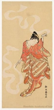 Suzuki Harunobu, Dancer, 1765-70, Color woodblock print (nishiki-e), Honolulu Museum of Art #dance