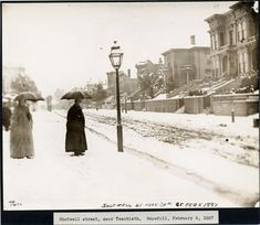 A snowy street in the Mission district of San Francisco, 1887. Image courtesy San Francisco History Center, San Francisco Public Library