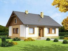 DOM.PL™ - Projekt domu ARN Irys CE - DOM RS1-64 - gotowy projekt domu Tiny Guest House, Lampang, Home Fashion, Gazebo, Home Goods, House Plans, Photo Wall, Outdoor Structures, Cabin