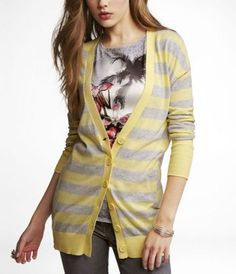 I have been looking for a grey & yellow striped sweater for literally 2 years...and here it is