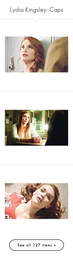 """""""Lydia Kingsley: Caps"""" by demiwitch-of-mischief ❤ liked on Polyvore featuring teen wolf, holland roden, holland, people, lydia, celebrities, pictures, celebs, hair and people - holland roden"""