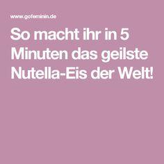 So macht ihr in 5 Minuten das geilste Nutella-Eis der Welt!