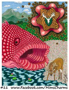 The Fish's Fantasy #11 by Karen Weinkauf.  Photo reproductions and the original artworks are available for sale.