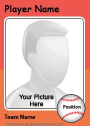 Use This Template To Create Custom Baseball Cards For Your Team Include A Photo And State Like Creative Recognition Ideas Sport