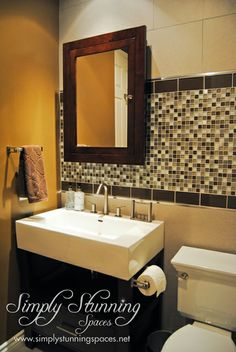 Simply Stunning Spaces bathroom design. For more interior design inspiration visit: www.simplystunningspaces.com