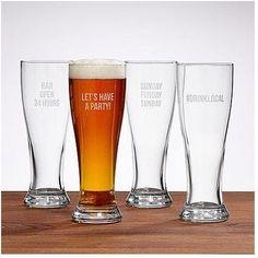 Pilsner Beer Glasses | Wedding Thank You Gifts For Guests, Parents, Bridesmaids, Groomsmen