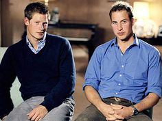 Prince Harry  /  Prince William - two handsome young men.