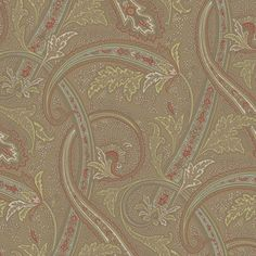 Sample of Courtney Paisley Wallpaper design by Ronald Redding
