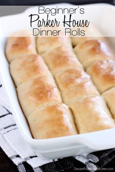 These Parker House Dinner Rolls are easy enough for beginners! With step-by-step photos, you will see just how simple it is to create these soft, buttery dinner rolls! #FleischmannsYeast