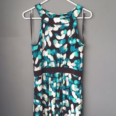 Merona dress size S Brown, teal, blue and cream. Worn once. Lightweight. Merona Dresses