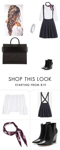 """""""Untitled #215"""" by amory-eyre ❤ liked on Polyvore featuring Disney, Carolina Herrera, Halogen, Rupert Sanderson, Givenchy and Karl Lagerfeld"""