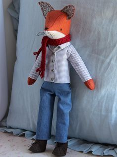Cute! Pattern available to buy here: http://aliciapaulson.com/collections/softie-patterns/products/mr-basil-fox-softie-sewing-pattern