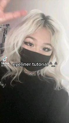 Dope Makeup, Emo Makeup, Grunge Makeup, Girls Makeup, Beauty Makeup, Cute Makeup Looks, Pretty Makeup, Makeup Tutorial Eyeliner, Kawaii Makeup Tutorial