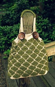 Ravelry: Casual Mosaic Shoulder Bag pattern by Carrie A. Sullivan
