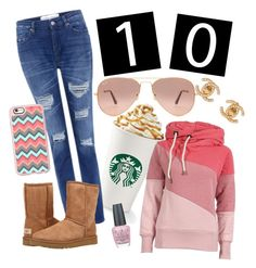 """Celebrate Our 10th Polyversary!"" by jamielynn2323 ❤ liked on Polyvore featuring IRO, Ray-Ban, UGG Australia, Casetify, OPI, Chanel, polyversary and contestentry"