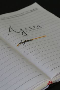 Uma coisa que tem mudado a minha vida aos poucos foi começar um bullet journal. Confira o set up de agosto e o planejamento semanal! Bullet Journal, Notebook, Up, Weekly Planner, The Notebook, Exercise Book, Notebooks