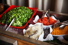 Opting for Cinco De Mayo food inspiration? Guests will flock to a festive taco bar, suitable for easygoing nuptials.