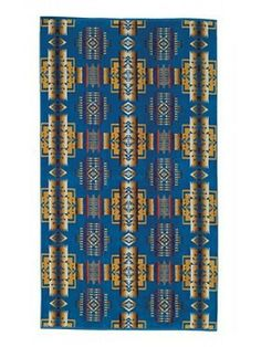 Pendleton Chief Joseph Spa Towel (Denim) - Liz Ann's Interior Design Boutique.  Click here to purchase http://lizann.myshopify.com/collections/bath-1/products/pendleton-chief-joseph-spa-towel-denim
