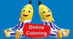 Bananas in Pyjamas Online Coloring Online Coloring Pages, Printable Coloring Pages, Coloring Pages For Kids, Print Pictures, Colorful Pictures, Banana In Pyjamas, Cartoon Pics, Tv Shows