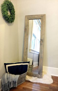 How To Make Your Own (Affordable) Floor Mirror | Floor mirror and ...