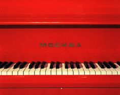 Moskva Piano by photographer Andrew Moore. Andrew Moore, I See Red, Simply Red, Red Aesthetic, Rainbow Aesthetic, Black White Red, Color Of Life, Shades Of Red, Ruby Red